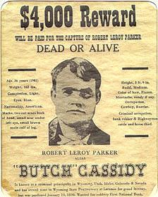 Butch Cassidy wanter poster