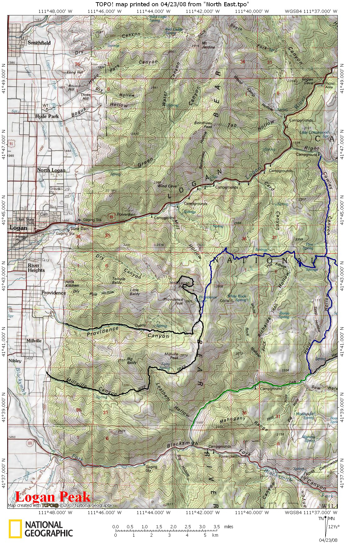 loganpeakatvtrailmap Visit Bear Lake