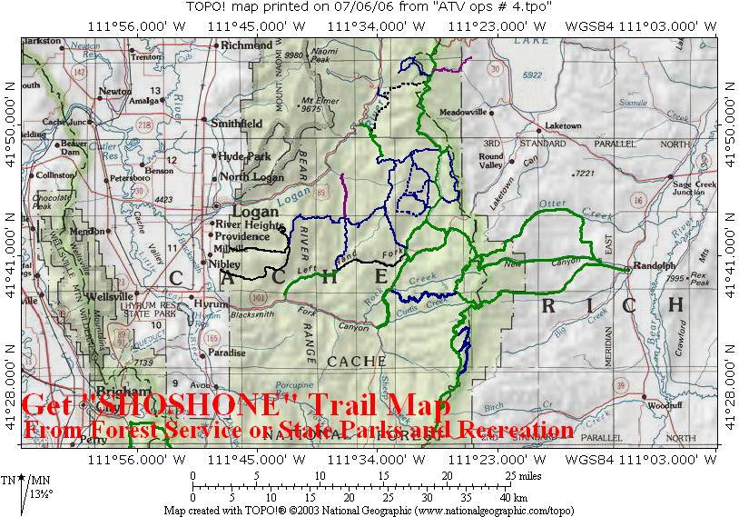 shoshoneatvtrailmap Visit Bear Lake