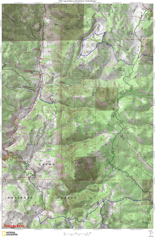 templepeakatvtrailmap Visit Bear Lake