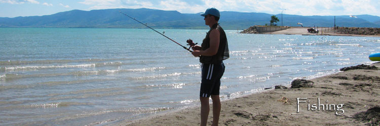 Fishing on Bear Lake Idaho and Utah. Catch Trout, Cisco